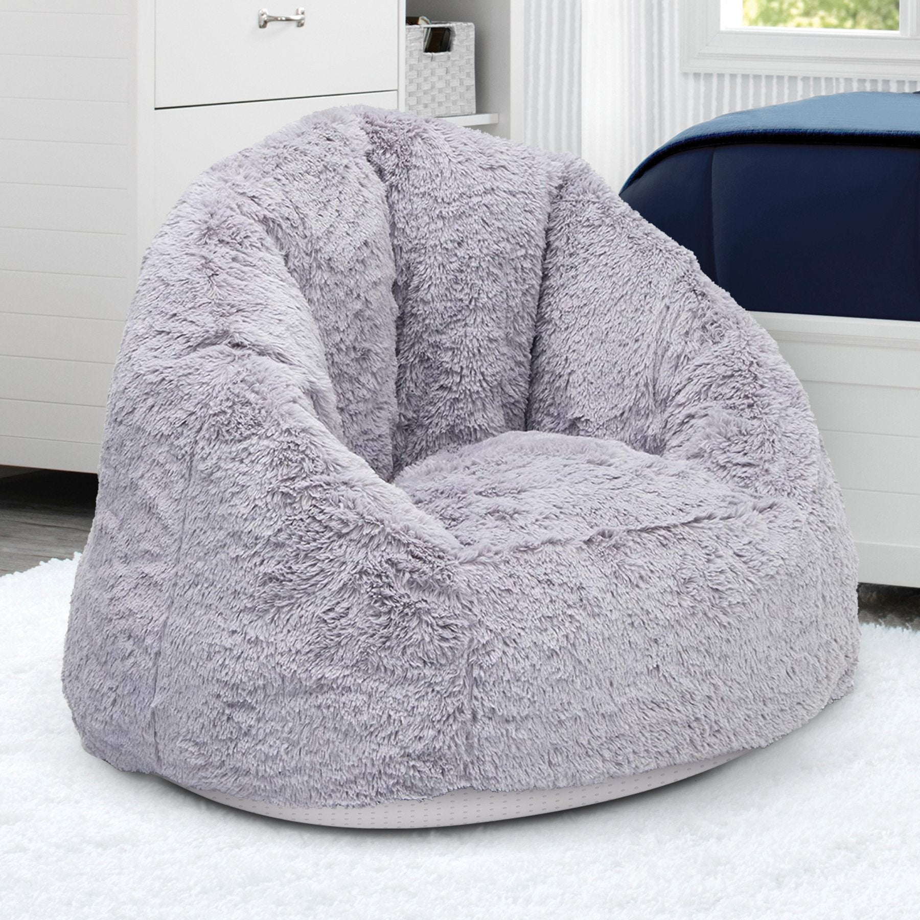 Adult Lounge Chair - Fluffy Foam Filled Chair for Living Rooms & Dorms - Better Than A Bean Bag Chair