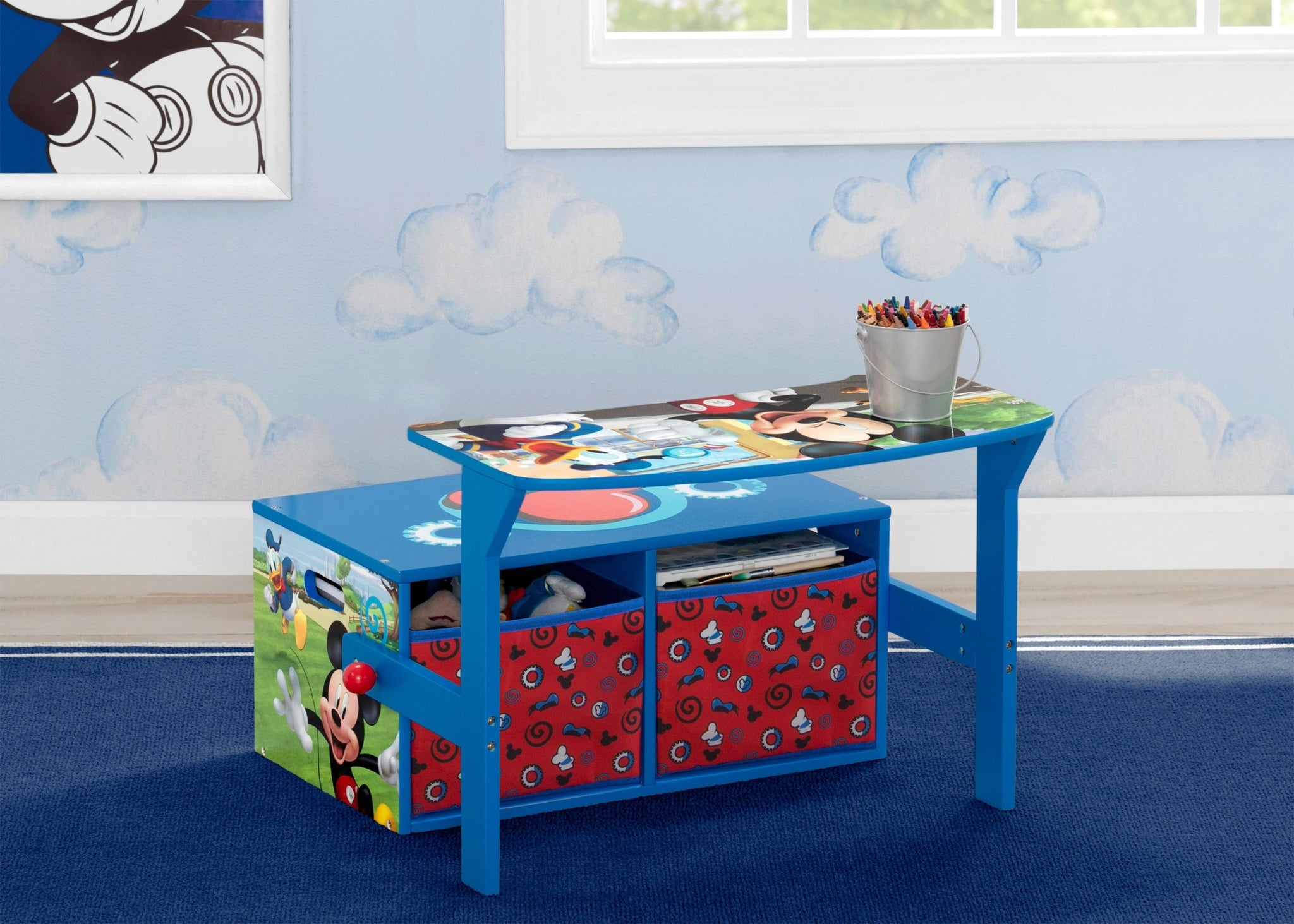 Delta Children Mickey Mouse Activity Bench, Hangtag View Desk