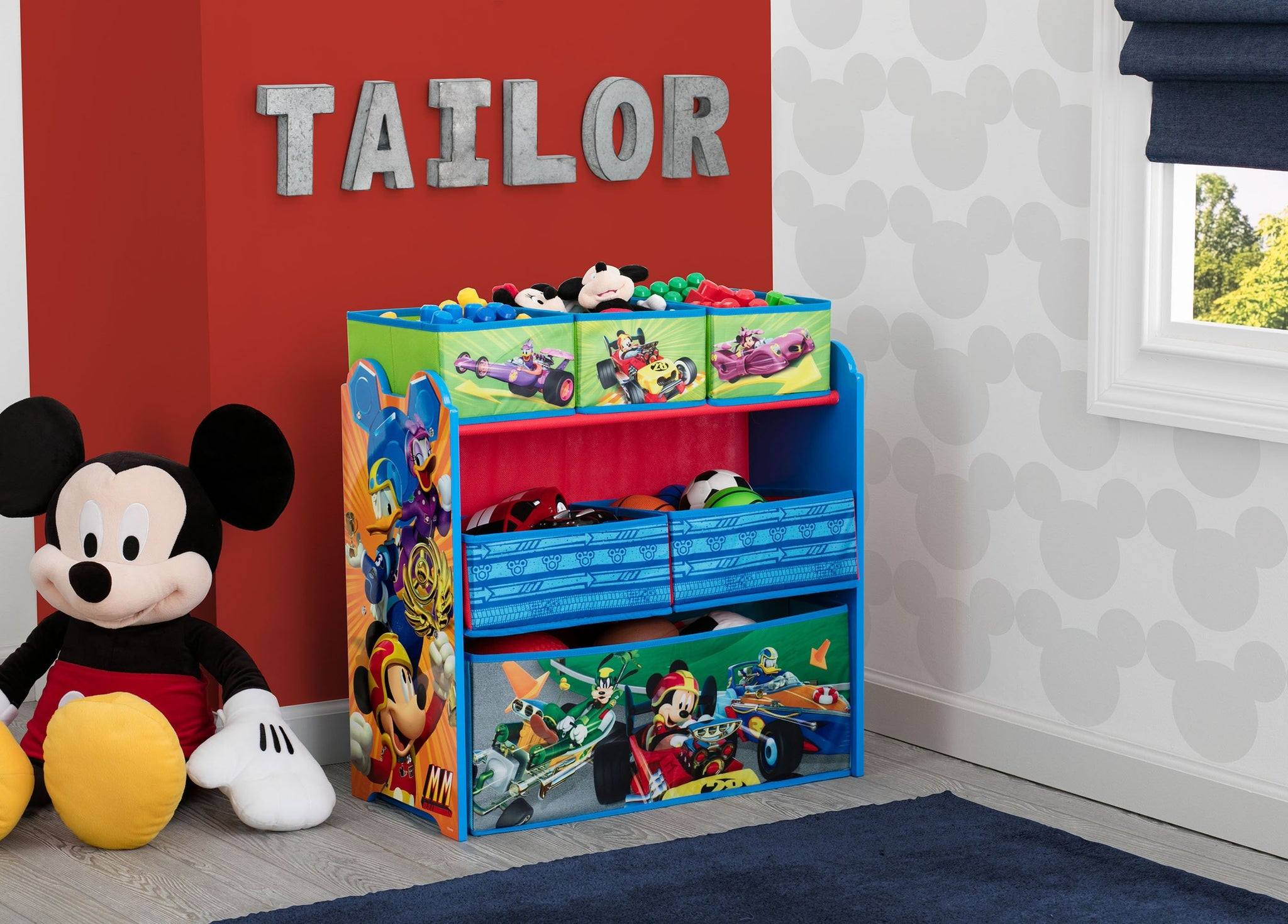 Delta Children Mickey Mouse (1053) Multi-Bin Toy Organizer (TB83242MM-1053), Room View a0a