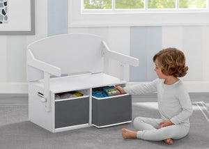 Delta Children Bianca White (130) MySize Activity Bench, Model View 2