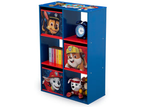 Delta Children Paw Patrol (1121) 6 Cubby Storage Unit (TB83390PW), Left View with Props a3a