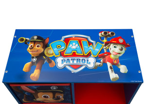 Delta Children Paw Patrol (1121) 6 Cubby Storage Unit (TB83390PW), Top View a5a