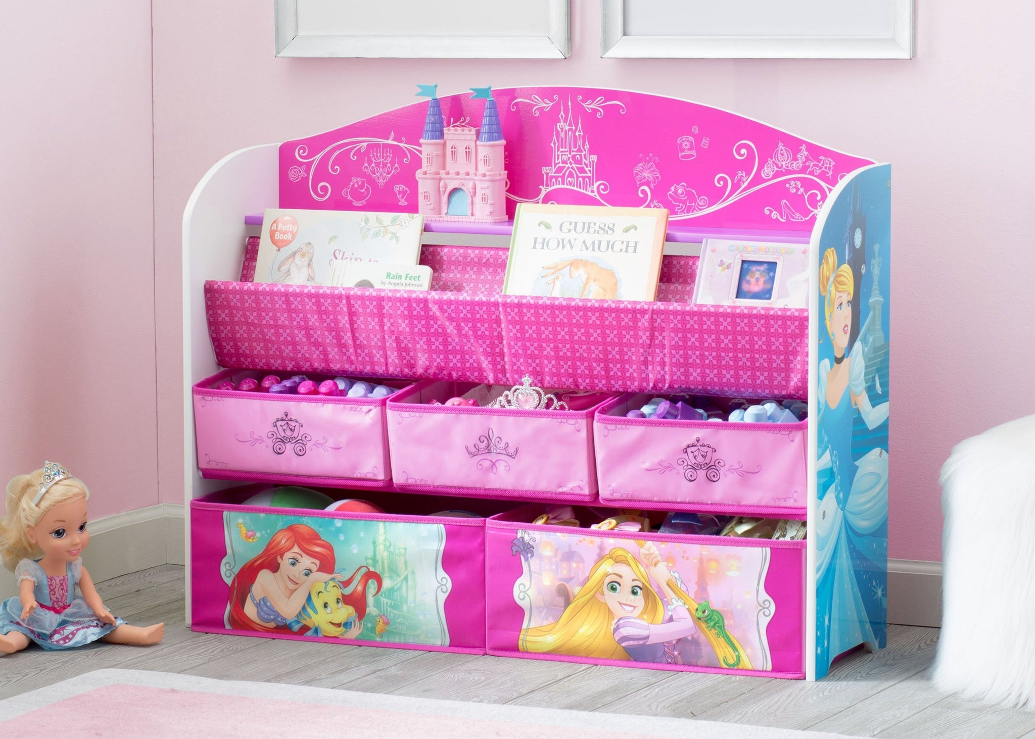Princess Deluxe Book & Toy Organizer