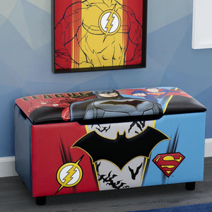 Justice League Upholstered Storage Bench for Kids