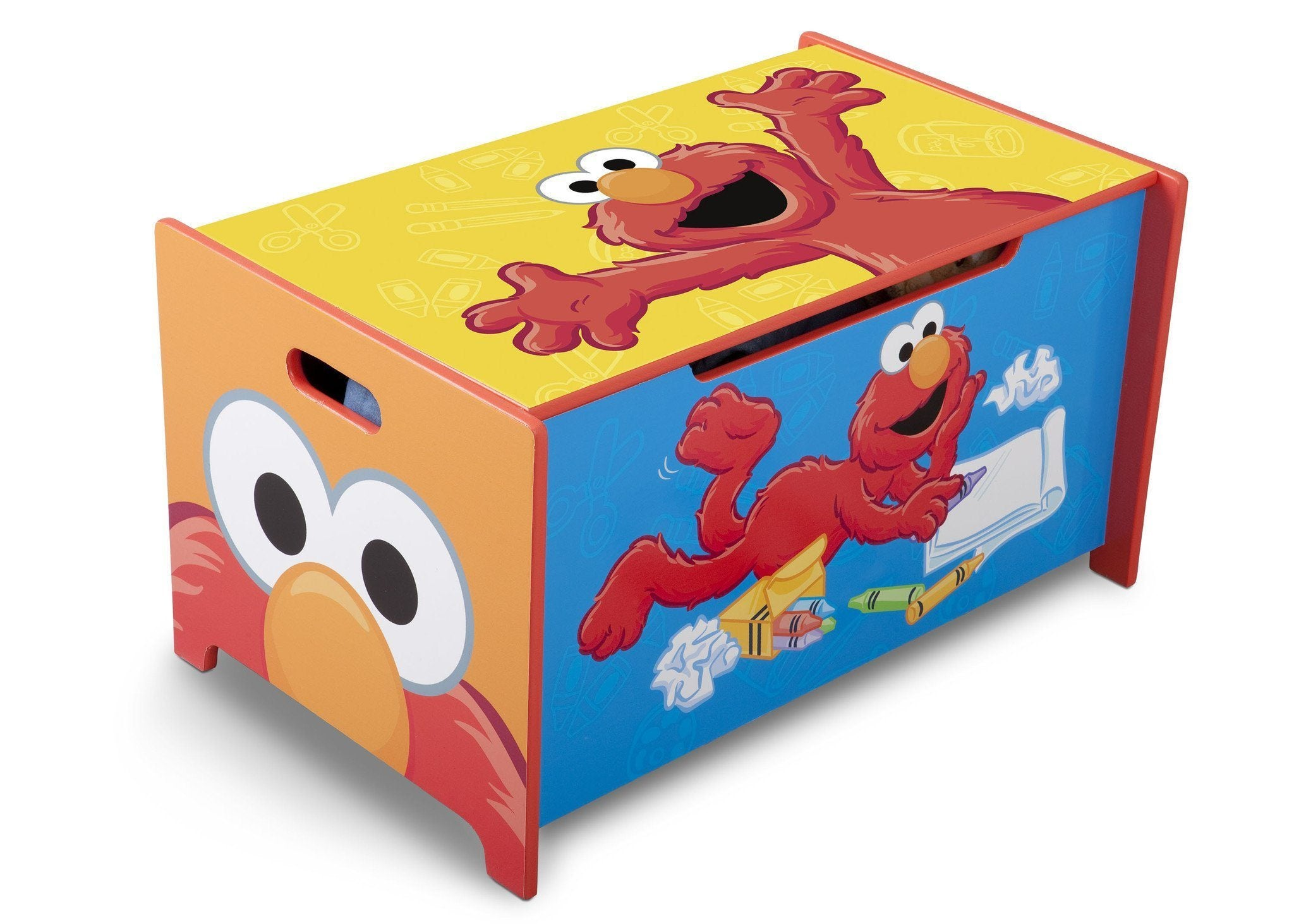 Delta Children Sesame Street Toy Box, Left View a1a