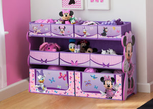 Delta Children Minnie Deluxe Multi-Bin Toy Organizer Room View a0a Minnie Mouse (1058)