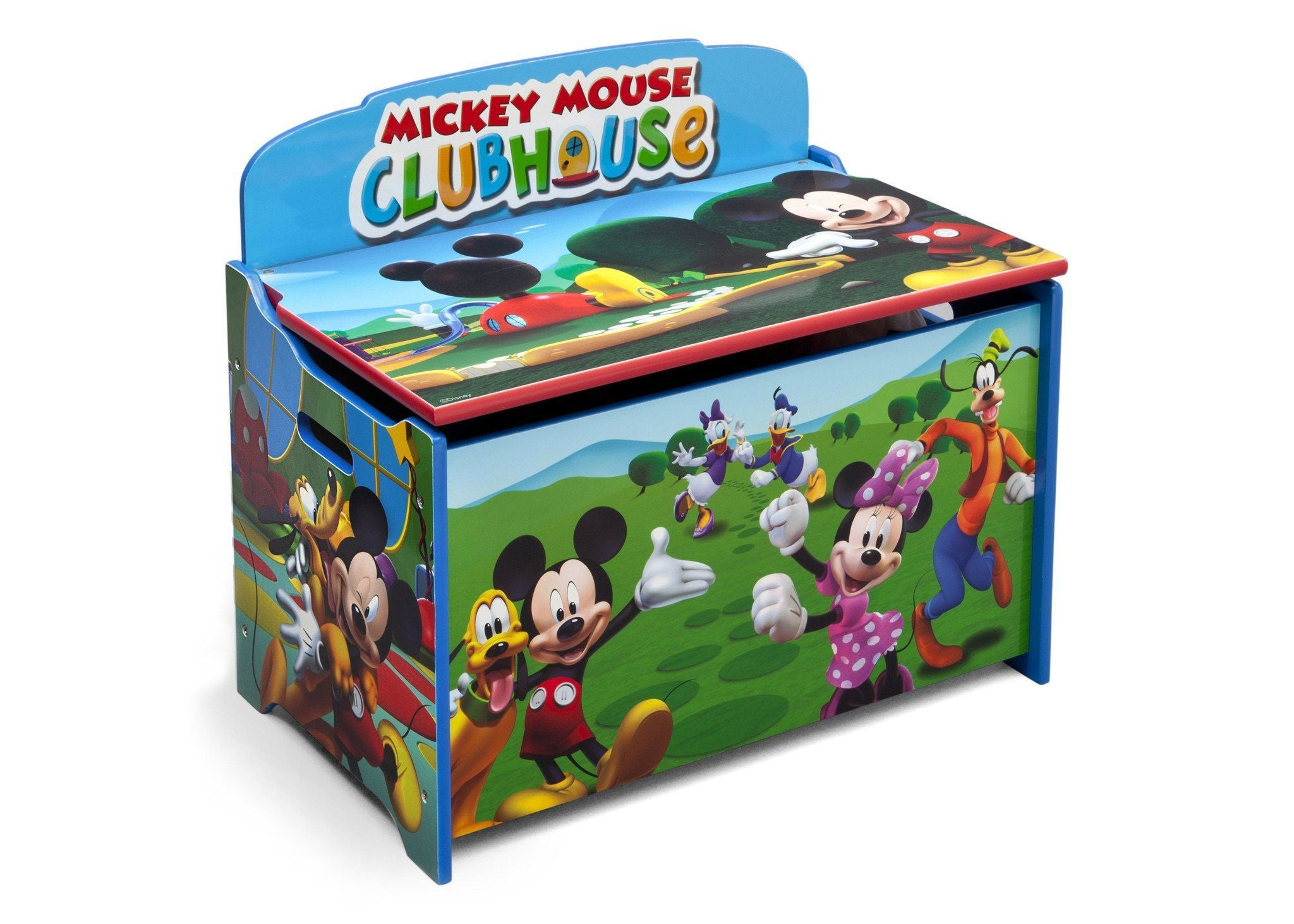 Delta Children Mickey Deluxe Toy Box Right Side View a1a Mickey (1051)