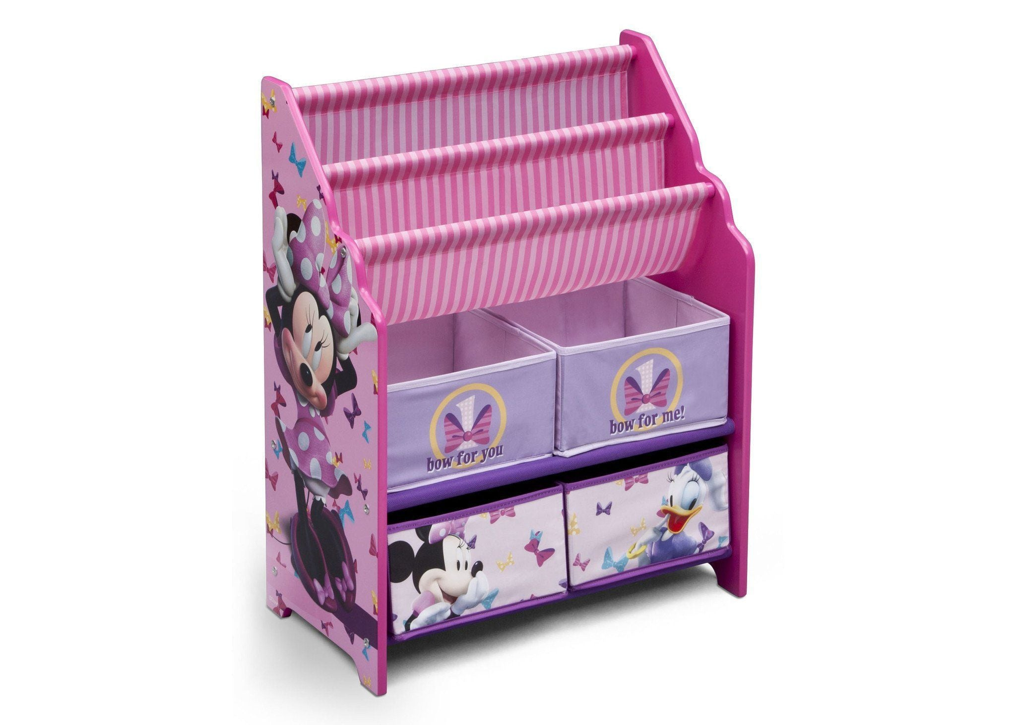 Delta Children Minnie Mouse Book & Toy Organizer, Right View
