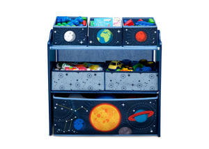 Delta Children Space Adventures (1223) Design and Store Toy Organizer, Front Silo View