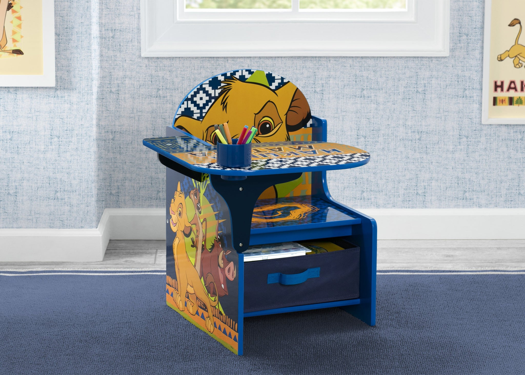 Delta Children The Lion King (1079) Chair Desk With Storage Bin, Hangtag View