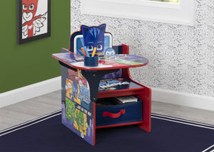 Delta Children PJ Masks Chair Desk with Storage Bin, Hangtag View Pj Masks (1170)