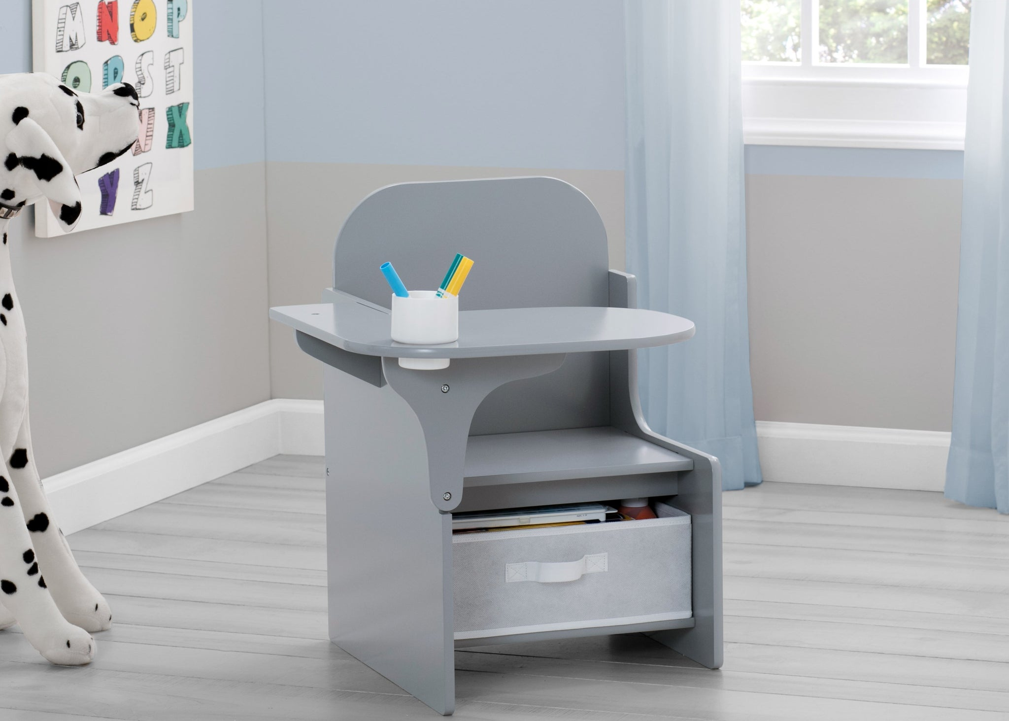 Delta Children MySize Chair Desk Grey (026) Hangtag View