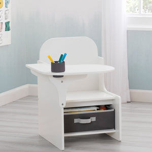 Delta Children MySize Chair Desk Bianca White (130) Hangtag View