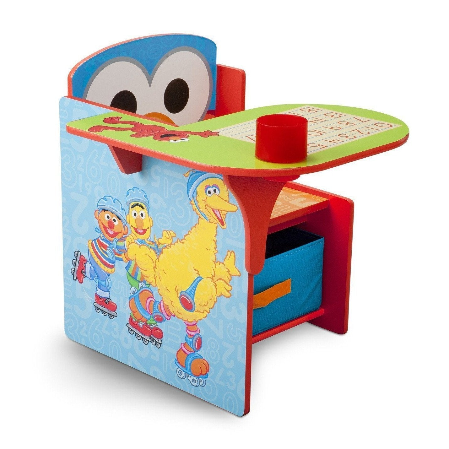 Delta Children Style-1 (999) Sesame Street Chair Desk with Storage Bin Right Side View a1a