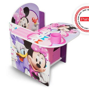 Delta Children Minnie Mouse Chair Desk with Storage Bin Right Side View a1a Minnie Mouse 1058