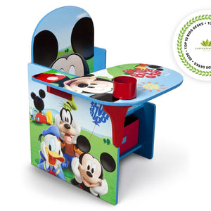 Delta Children Mickey Mouse Chair Desk with Storage Bin Right Side View a1a Mickey 1051