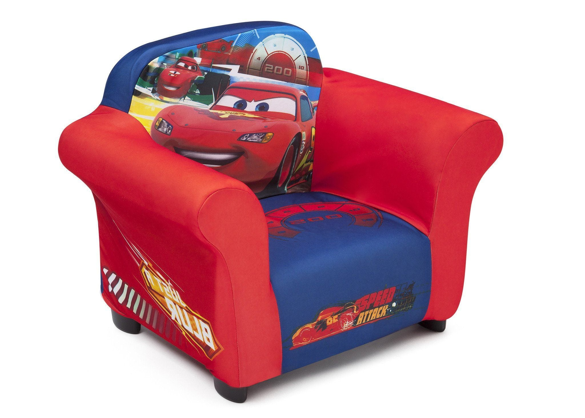 Delta Children Cars Upholstered Chair Right Side View a1a