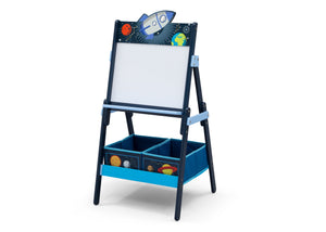 Delta Children Space Adventures (1223) Wooden Activity Easel with Storage, Left Silo View