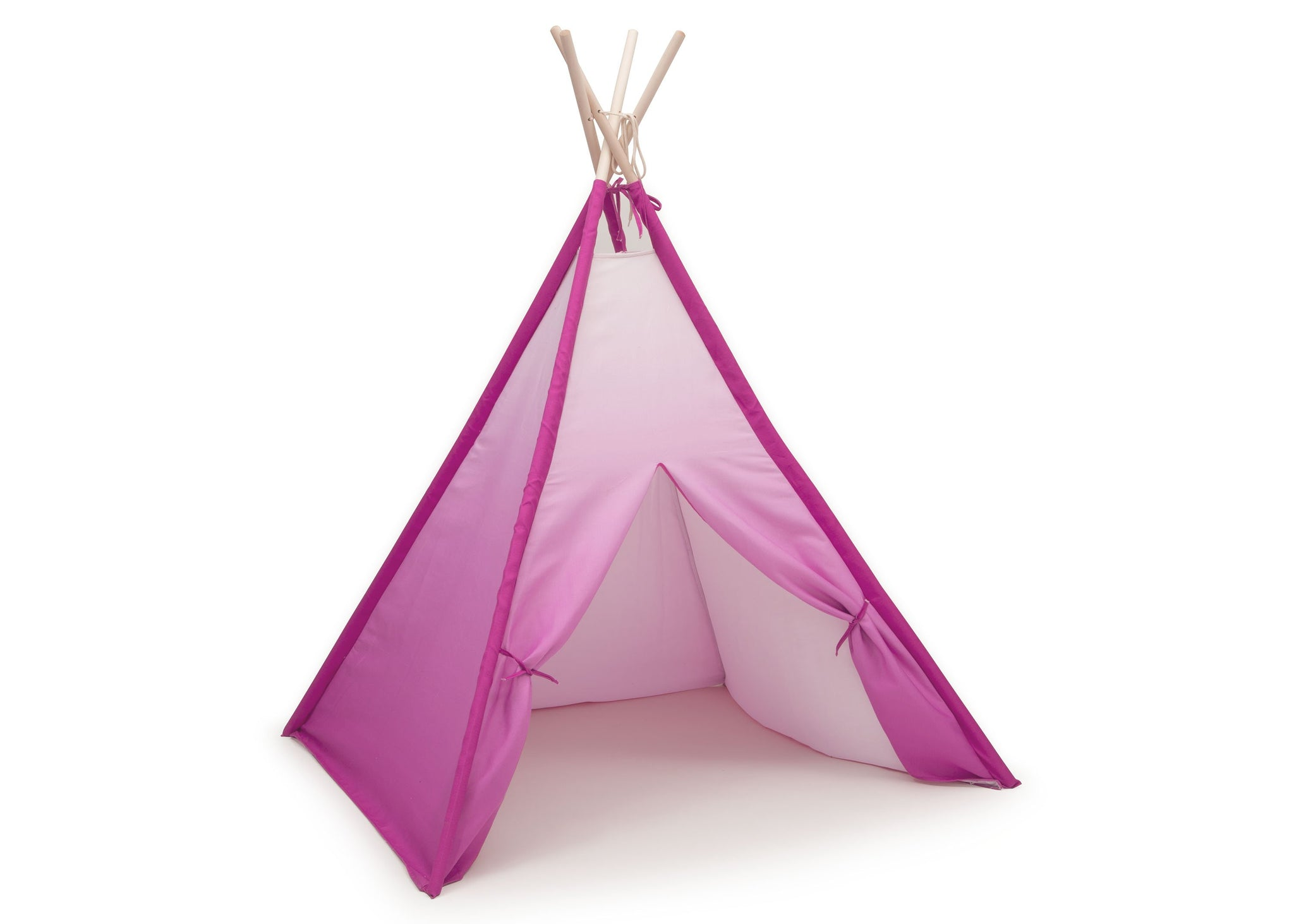 Delta Children Pink Ombre (999) Teepee Play Tent for Kids, Right Silo View