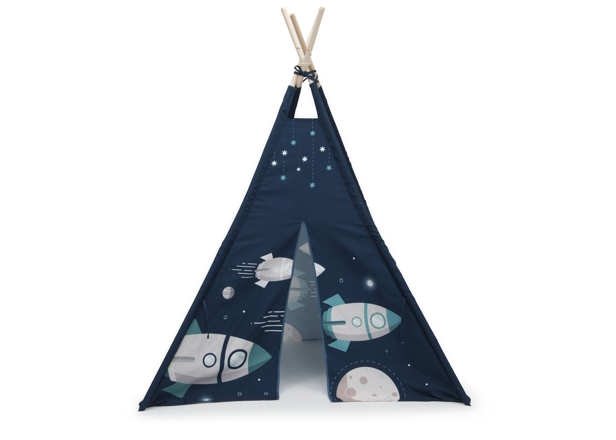 Delta Children Outer Space Adventures (999) Teepee Play Tent for Kids, Front Silo View