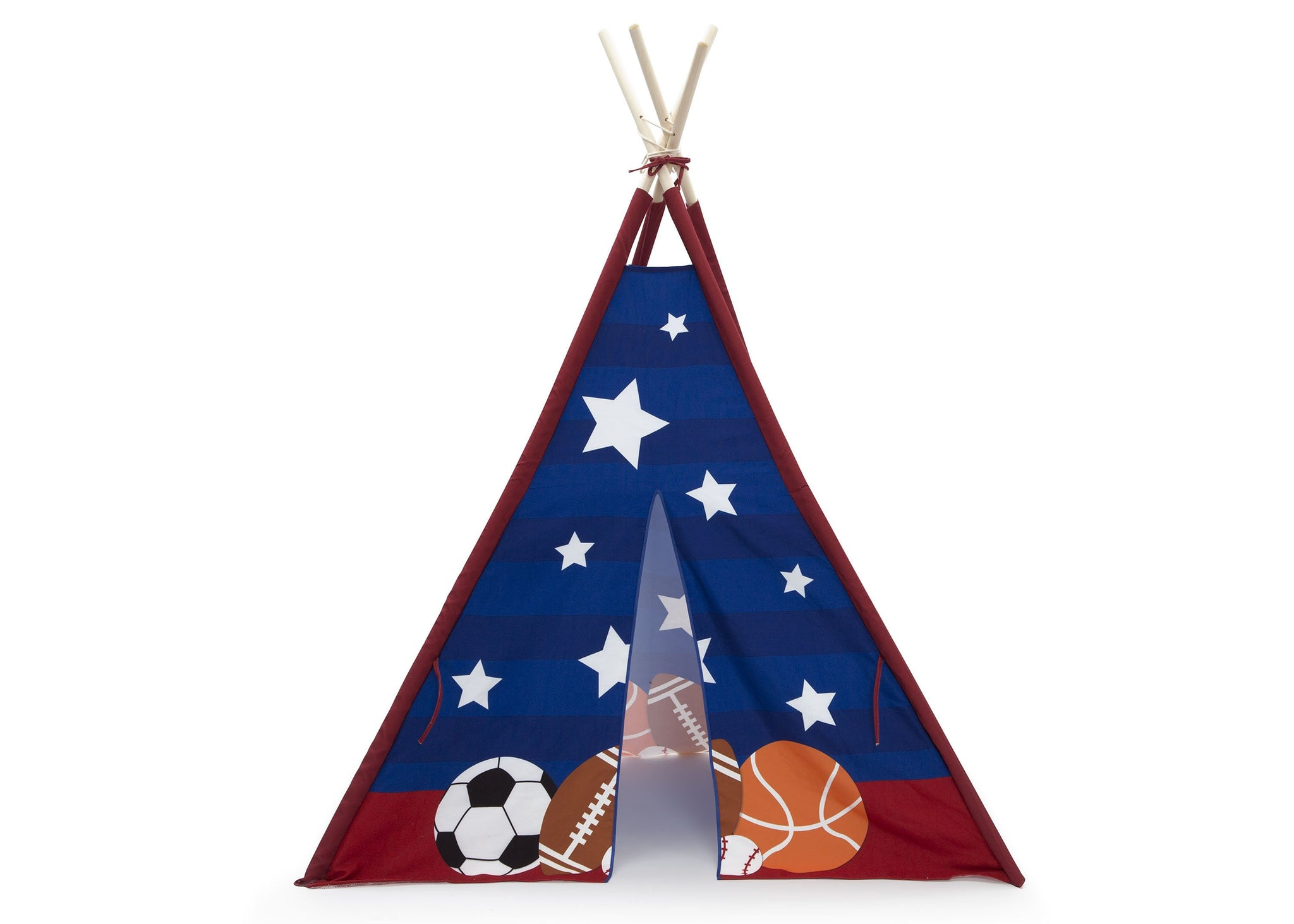 Delta Children All-Star Sports (999) Teepee Play Tent for Kids, Front Silo View