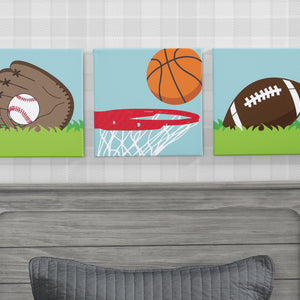 Delta Children Sports (3204) 3-Piece Canvas Wall Art Set for Boys, Hangtag View