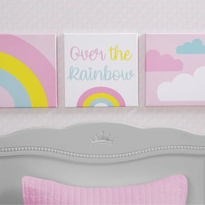 Delta Children Rainbow (3010) 3-Piece Canvas Wall Art Set for Girls, Hangtag View