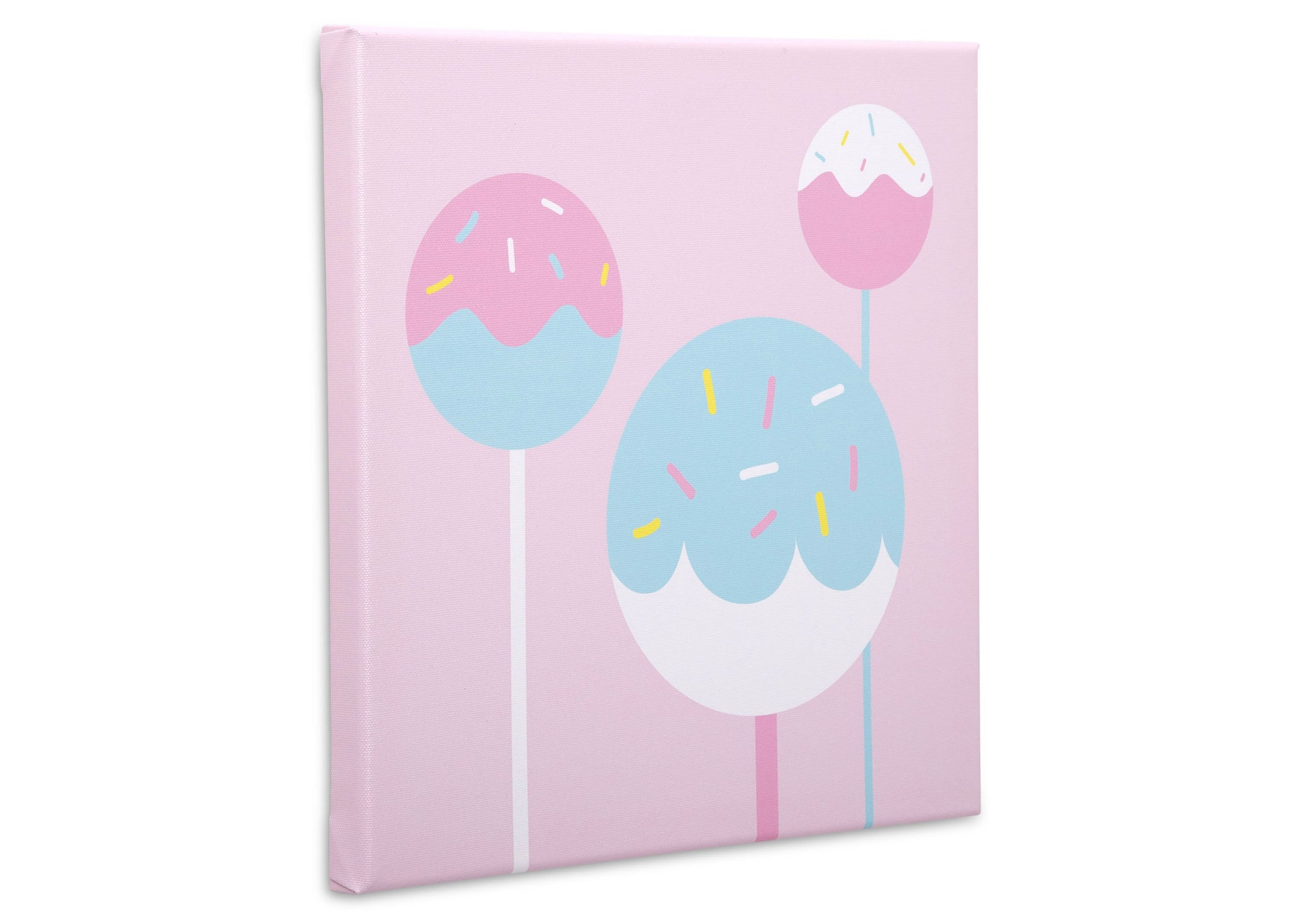 Delta Children Cake Pops (3012) 3-Piece Canvas Wall Art Set for Girls, Cake Pops Silo View