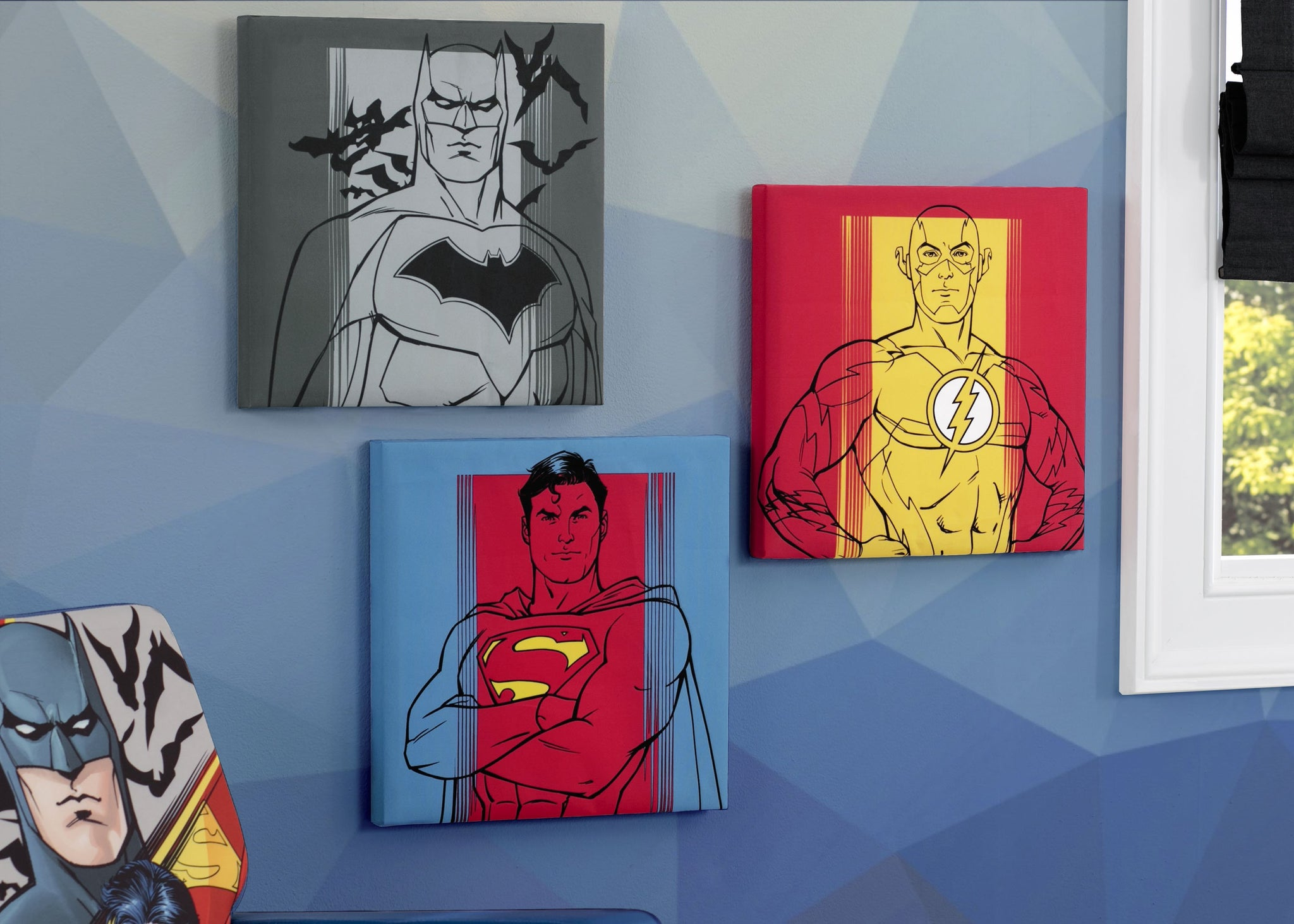 Delta Children Justice League (1215) Canvas Wall Art Set (TR80056JL), Hangtag, a1a