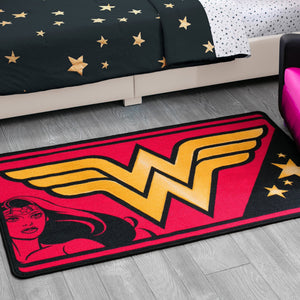 Wonder Woman Soft Area Rug with Non-Slip Backing (4 x 2'6)