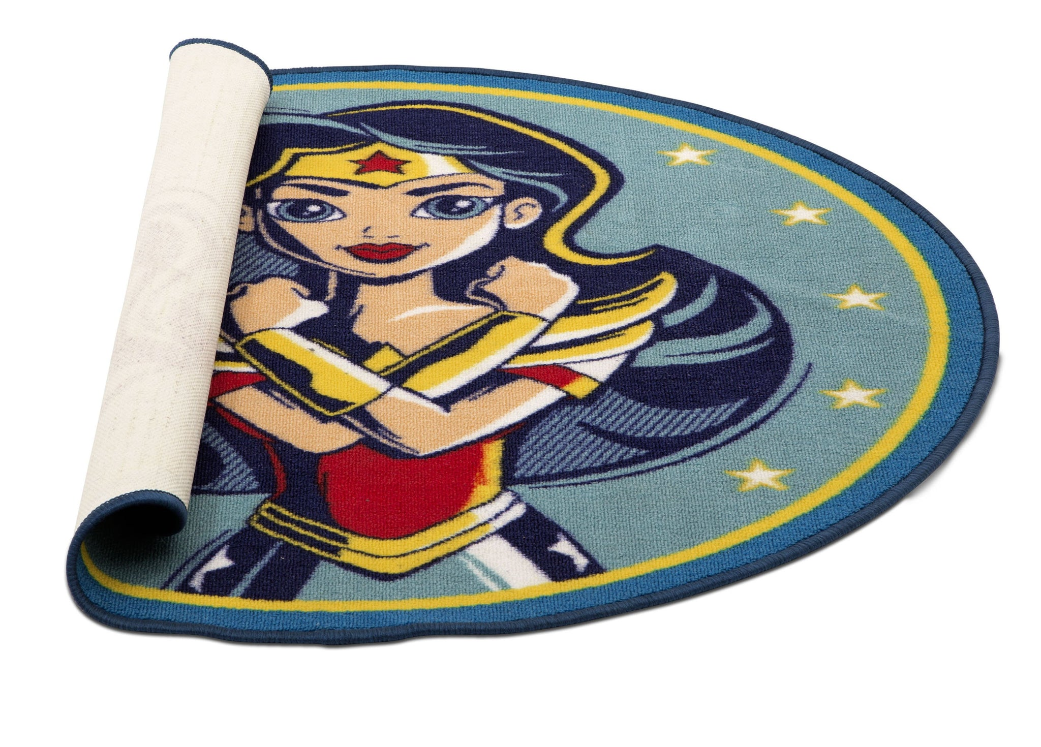 Delta Children Super Hero Girls (1205) Soft Area Rug with Non-Slip Backing (TR80122SG), Rolled, a3a
