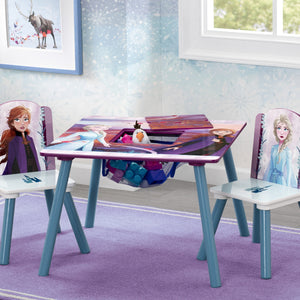 Delta Children Frozen 2 (1097) Table and Chair Set with Storage, Hangtag View