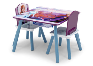 Delta Children Frozen 2 (1097) Table and Chair Set with Storage, Left Silo View