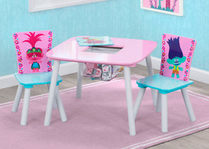 Delta Children Trolls World Tour (1177) Table and Chair Set with Storage, Hangtag View
