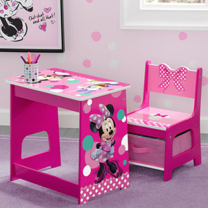 Delta Children Minnie Mouse Kids Wood Desk and Chair Set, Hangtag View