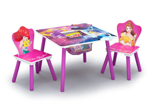 Disney Princess (1034) Table and Chair Set with Storage (TT89562PS), Table and Chair Open, a2a