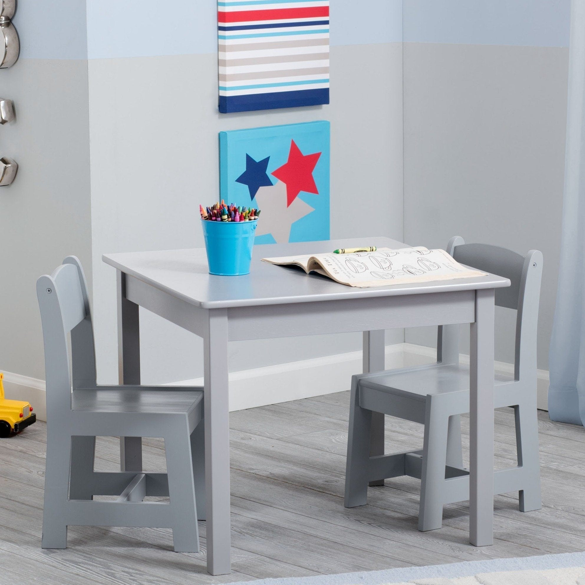 Delta Children Grey (026) MySize Table & Chairs Set, Room, a1a