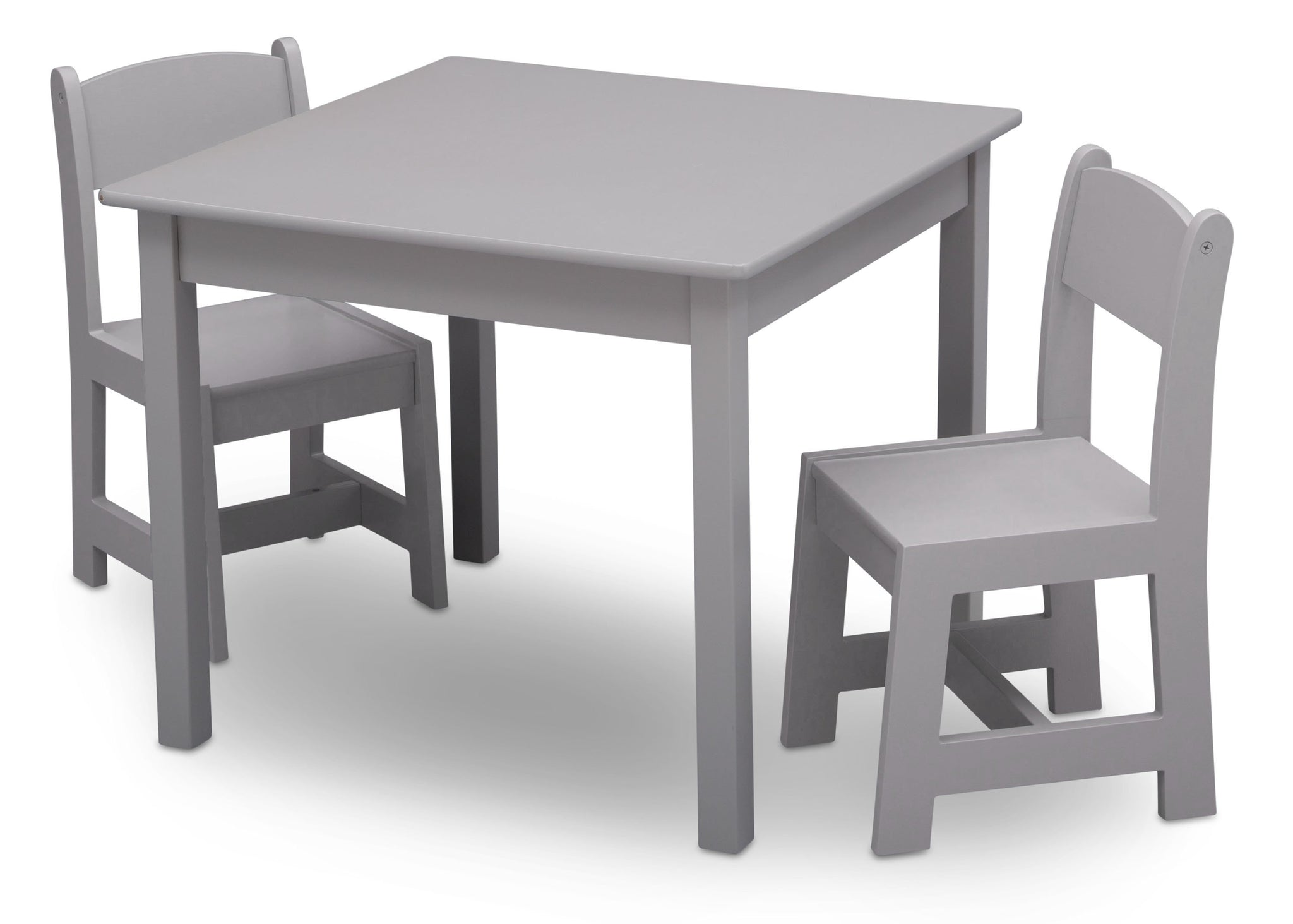 Delta Children Grey (026) MySize Table & Chairs Set, Left Angle, a3a
