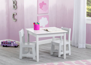 Delta Children Bianca White (130) MySize Table & Chairs Set, Room View