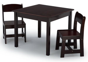 Delta Children Dark Chocolate (207) MySize Table & Chairs Set, Left Angle, c3c