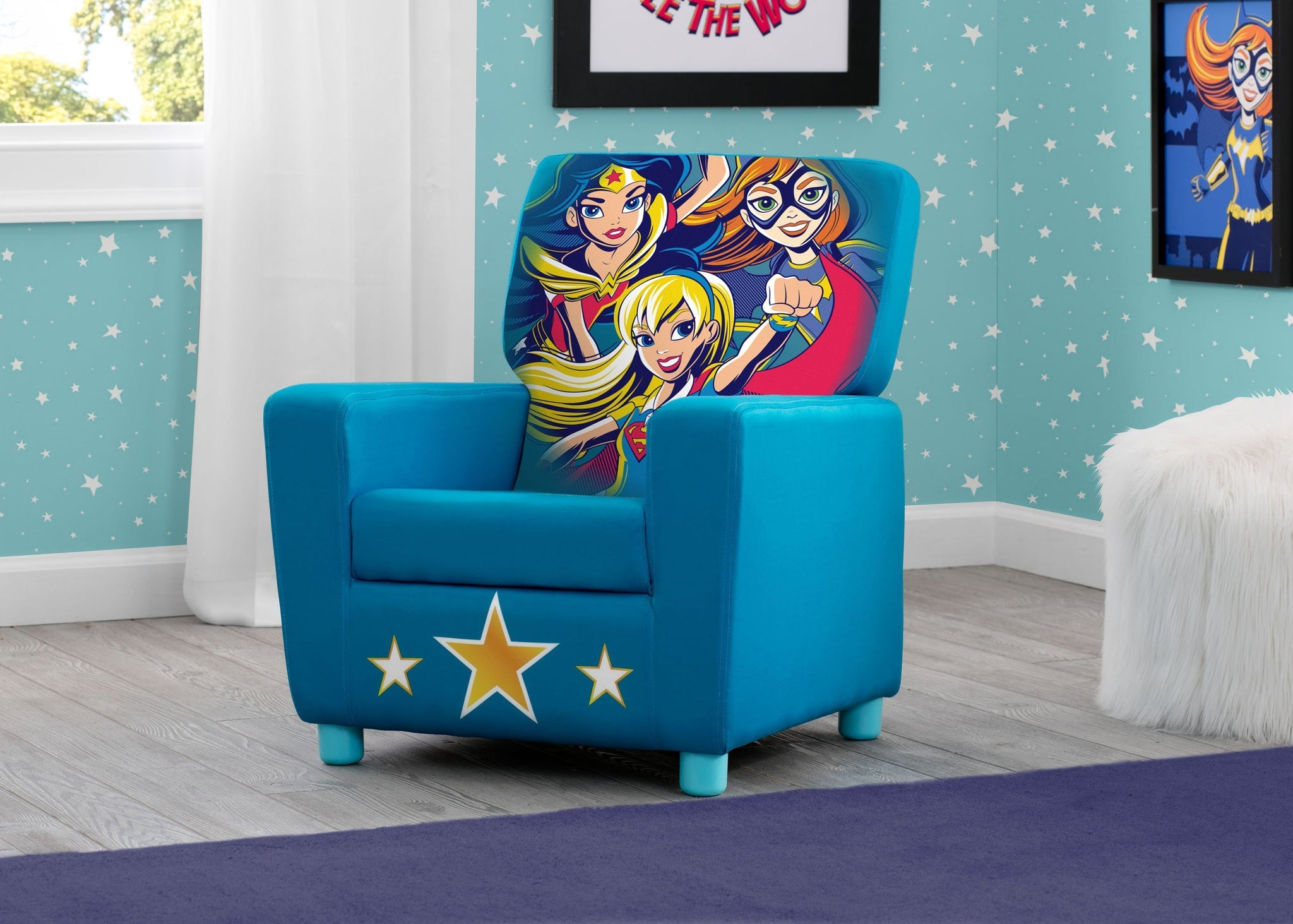 Delta Children DC Super Hero Girls (1205) High Back Upholstered Chair, Room, a0a