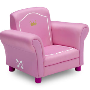 Delta Children Love Girl (1187) Princess Crown Kids Upholstered Chair, Right Silo View