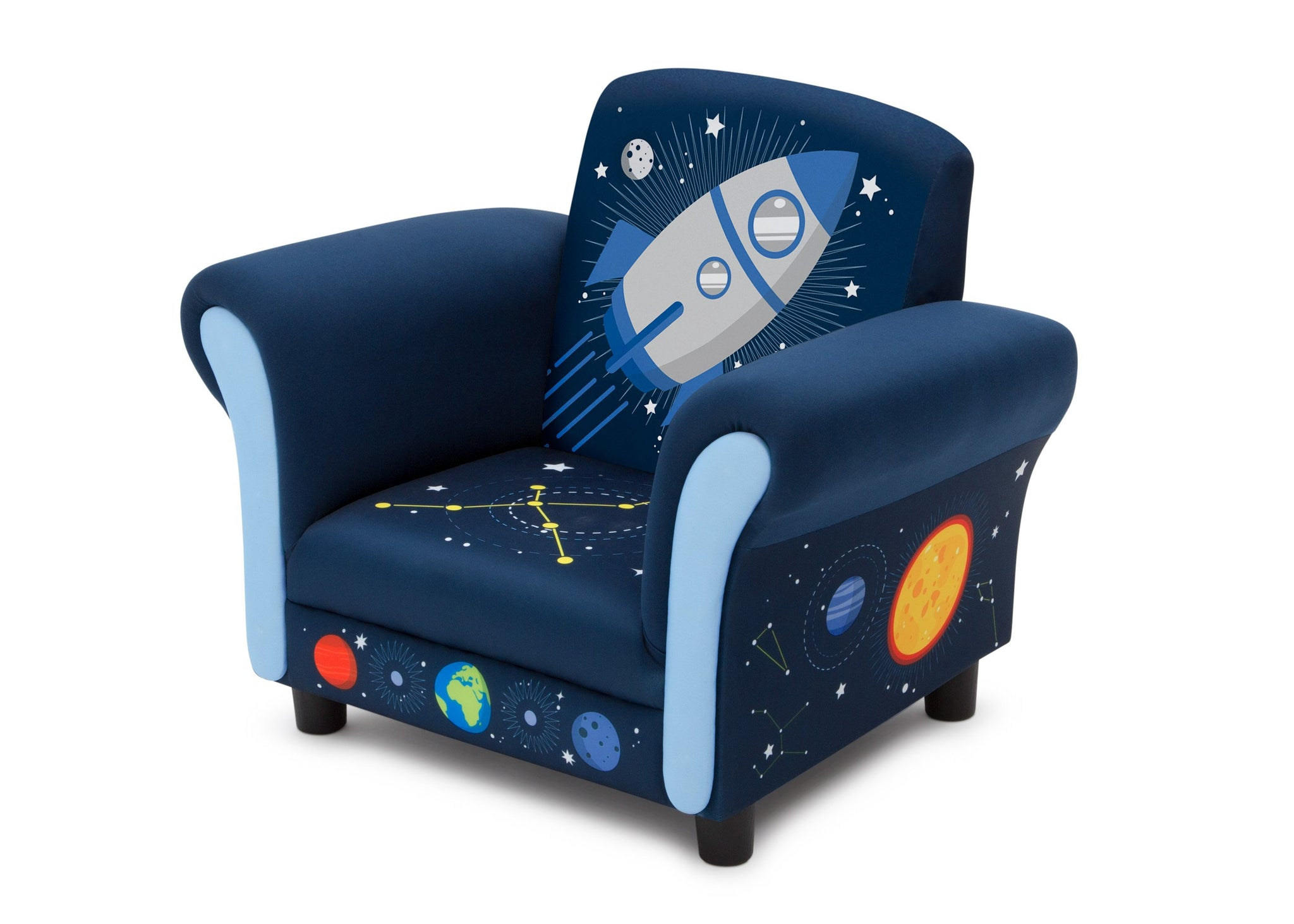 Delta Children Space Adventures (1223) Kids Upholstered Chair, Left Silo View