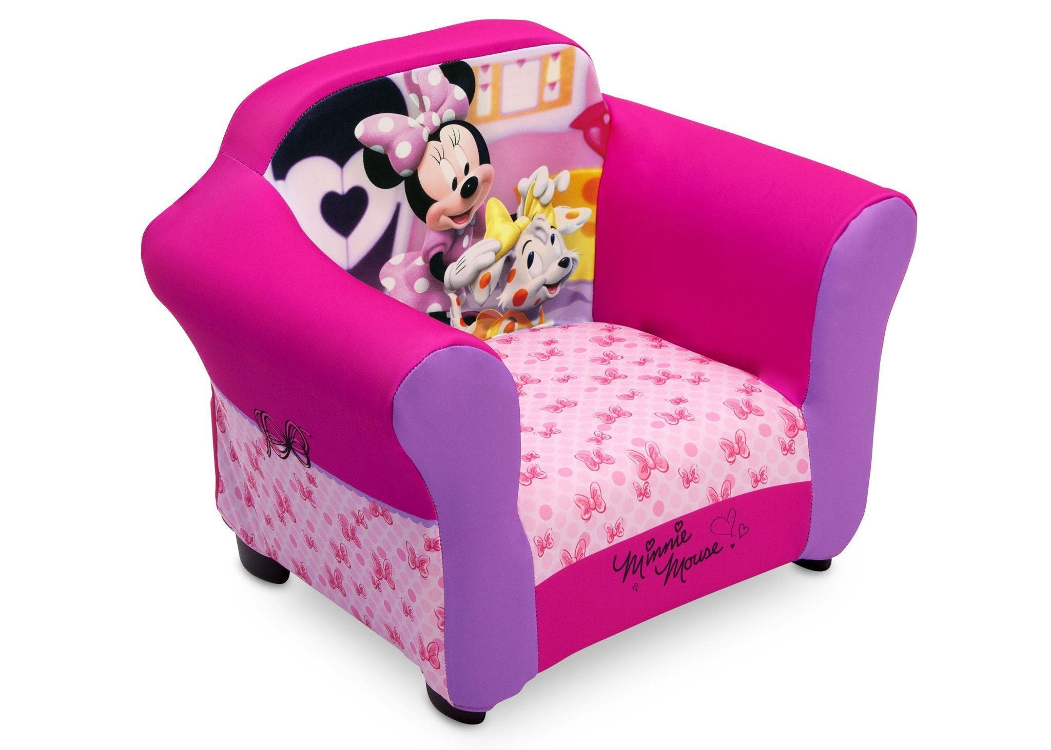 Delta Children Minnie Mouse Plastic Frame Upholstered Chair Style-1, Right View a1a