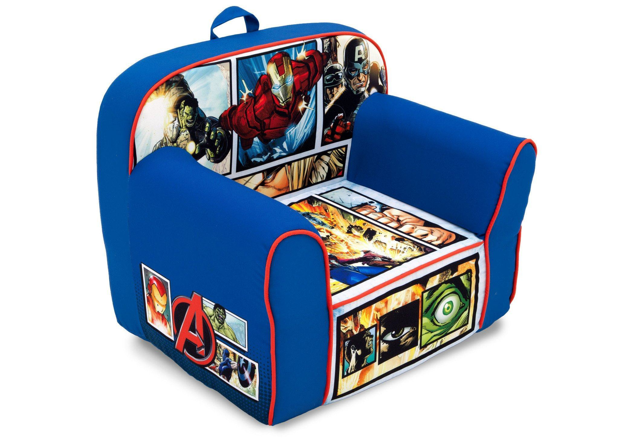 Delta Children Avengers Foam Snuggle Chair Right Side View a1a