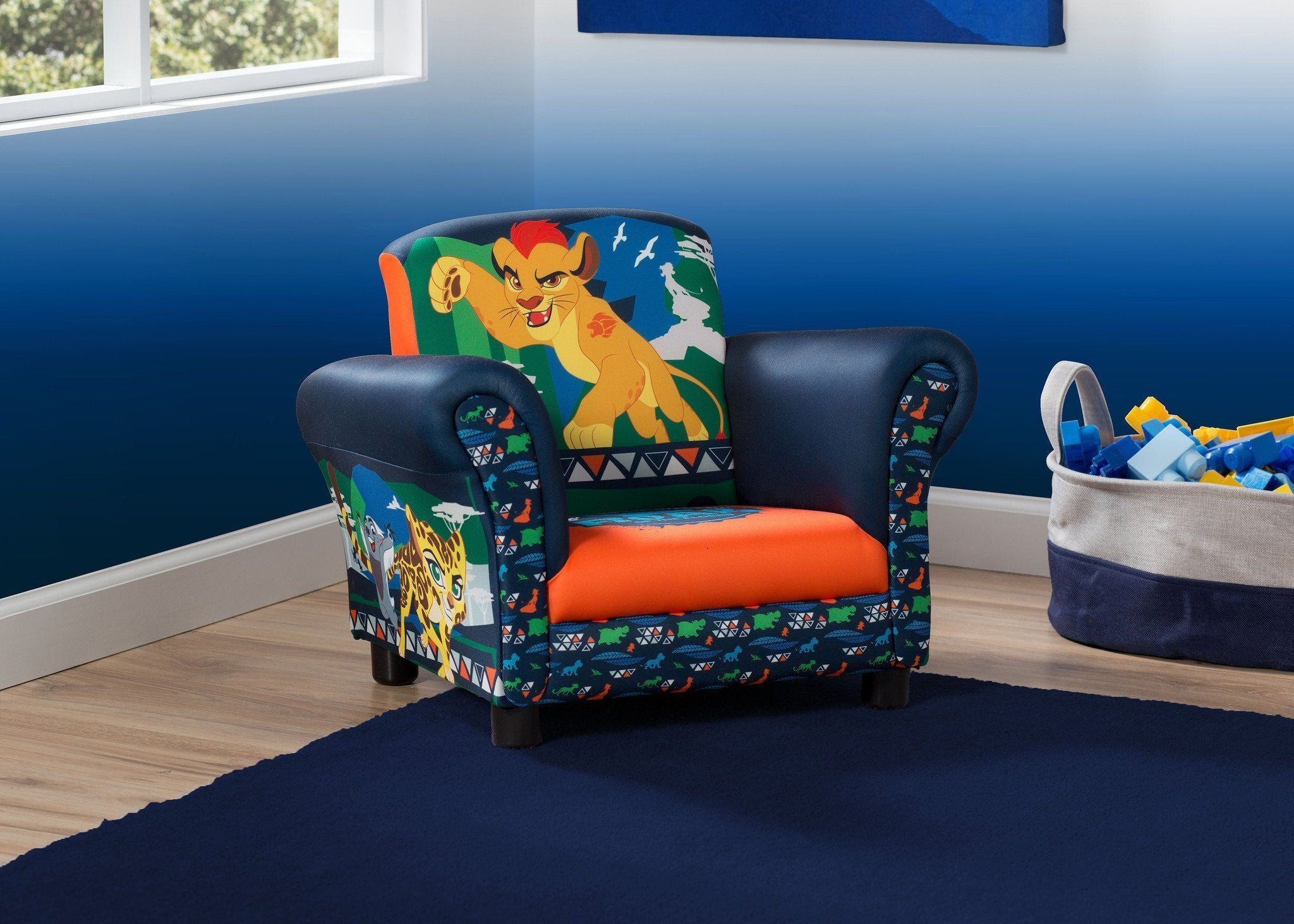 Delta Children The Lion Guard Upholstered Chair, Right View a0a