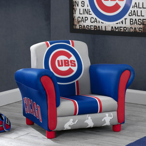 Delta Children Chicago Cubs Upholstered Chair, Room view a0a