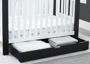Delta Children Midnight (1360) Under Crib Roll-Out Storage, Hangtag View