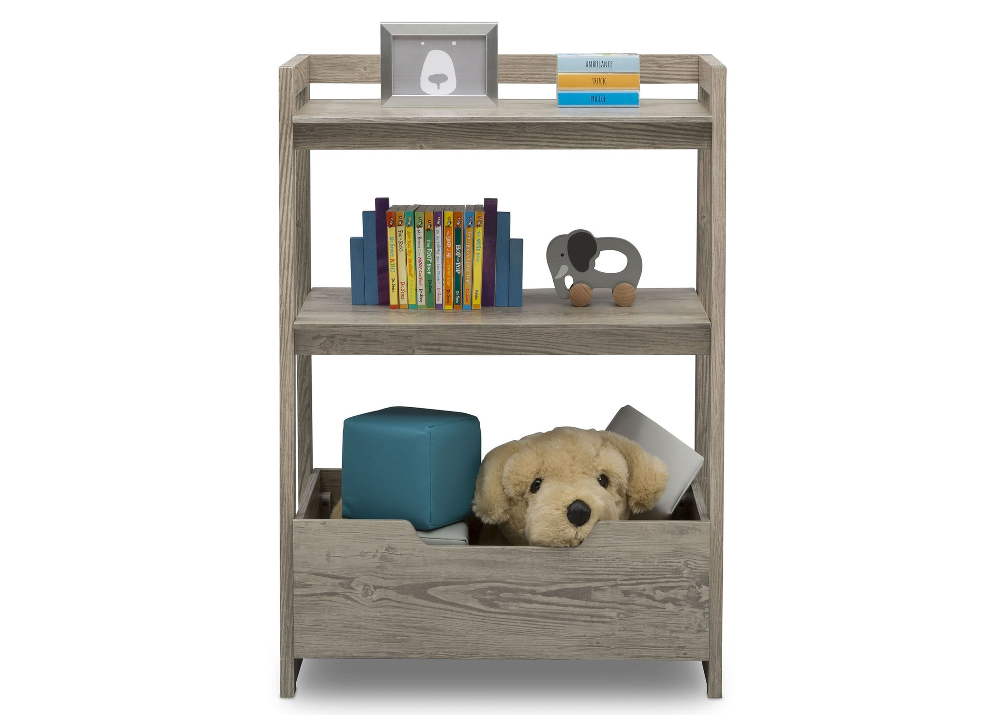Delta Children Crafted Limestone (1334) Gateway Small Laddershelf (W101452), Front Silo with Props, d3d