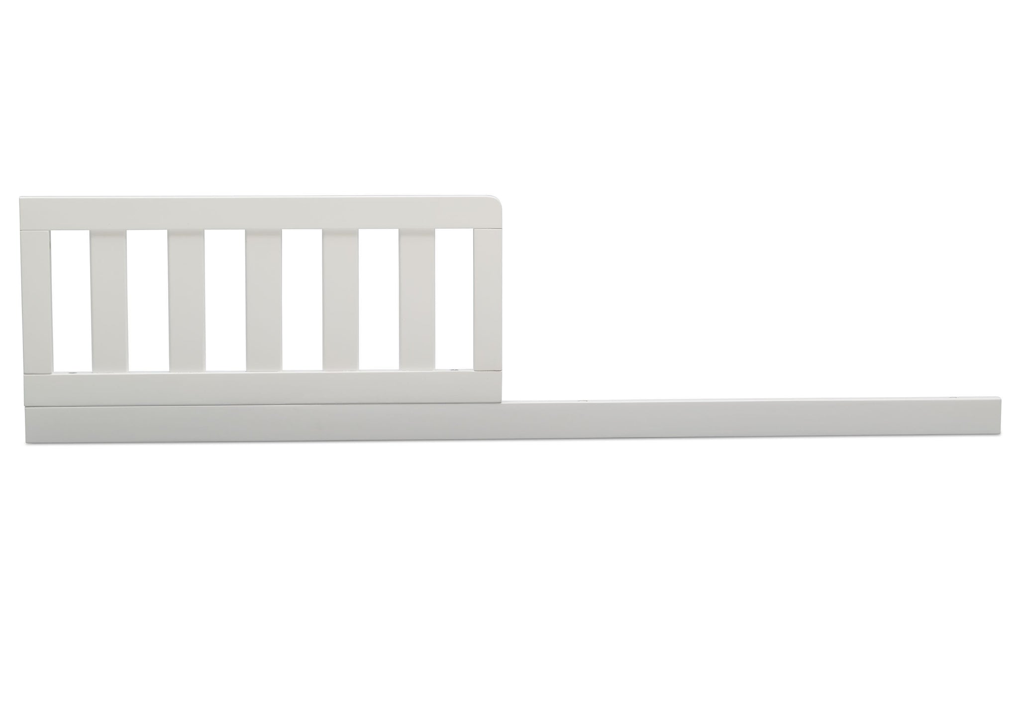 Delta Children Bianca White (130) Daybed/Toddler Guardrail Kit (W102725), Toddler Bed Front View, b1b
